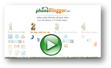phoneBlogger Video Step #2: Ghost-Blogging