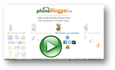 phoneBlogger Video Step #3: Promotion